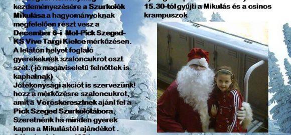 Gyűjtést szerveznek MOL-Pick Szeged szurkolók!