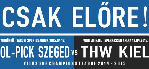 Egyedi sál a MOL-Pick Szeged-THW Kiel meccsre