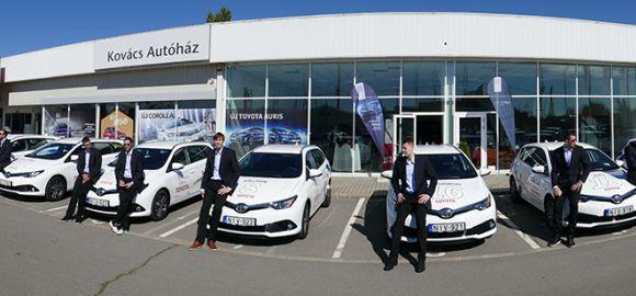 Új Toyota autókkal készül a MOL-Pick Szeged a vasárnapi Barcelona elleni BL rangadóra