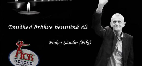 Az első bajnoki – Pióker Sándor emlékére