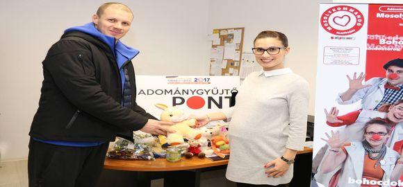 A Mosolykommandó Alapítványt támogatták a MOL-PICK Szeged kézilabdásai