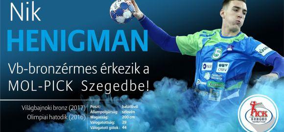 Nik Henigman a MOL-PICK Szeged játékosa